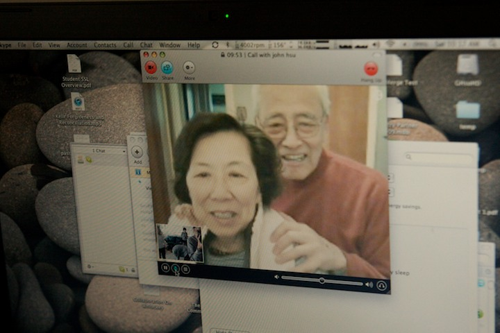 Skyping the Grandparents